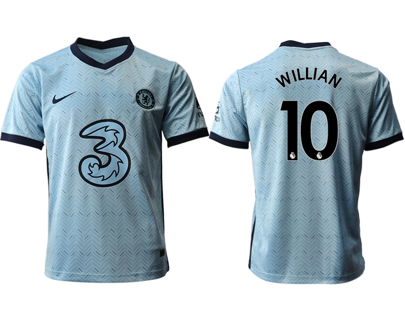 2020-21 Chelsea 10 WILLIAN Away Thailand Soccer Jersey