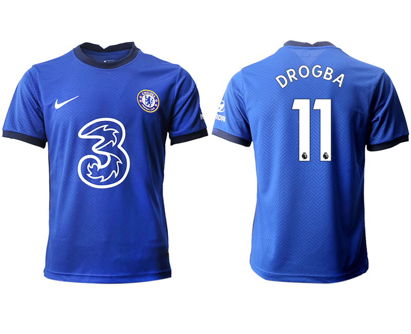 2020-21 Chelsea 11 DROGBA Home Thailand Soccer Jersey