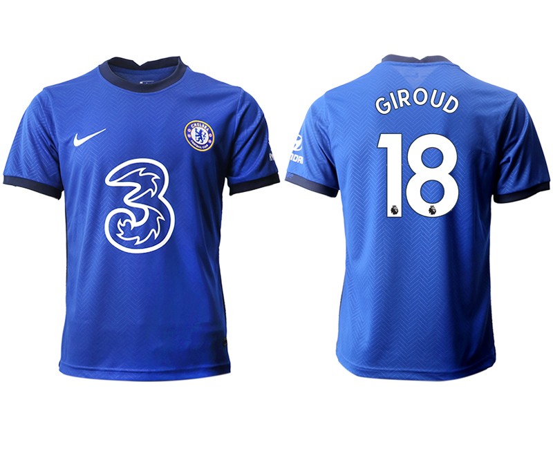 2020-21 Chelsea 18 GIROUD Home Thailand Soccer Jersey