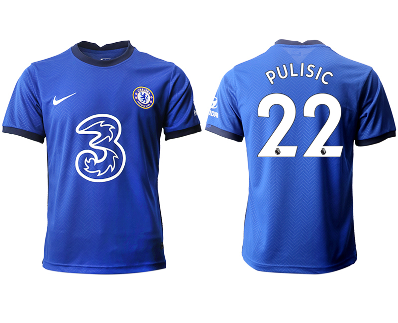 2020-21 Chelsea 22 PULISIC Home Thailand Soccer Jersey