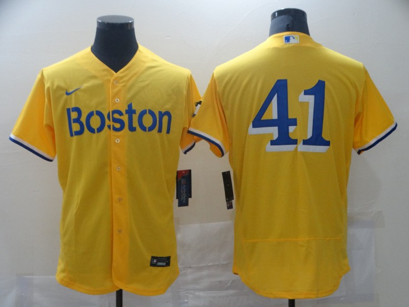 Red Sox 42 Gold Nike 2021 City Connect Replica Player Flexbase Jersey