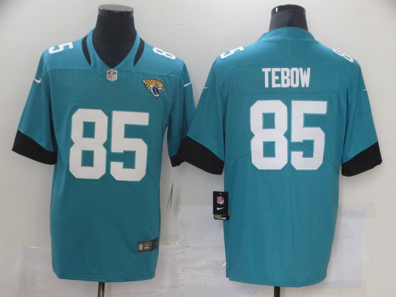 Nike Jaguars 85 Tim Tebow Teal 2021 NFL Draft Vapor Untouchable Limited Jersey