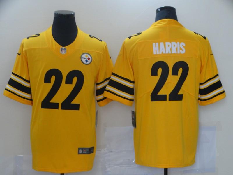 Nike Steelers 22 Najee Harris Yellow 2021 NFL Draft Vapor Untouchable Limited Jersey