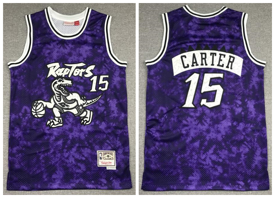 Raptors 15 Vince Carter Purple Hardwood Classics Swingman Jersey