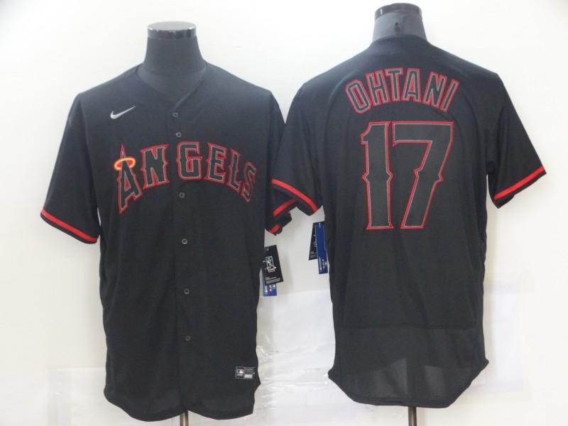 Angels 17 Shohei Ohtani Black Nike Flexbase Jersey