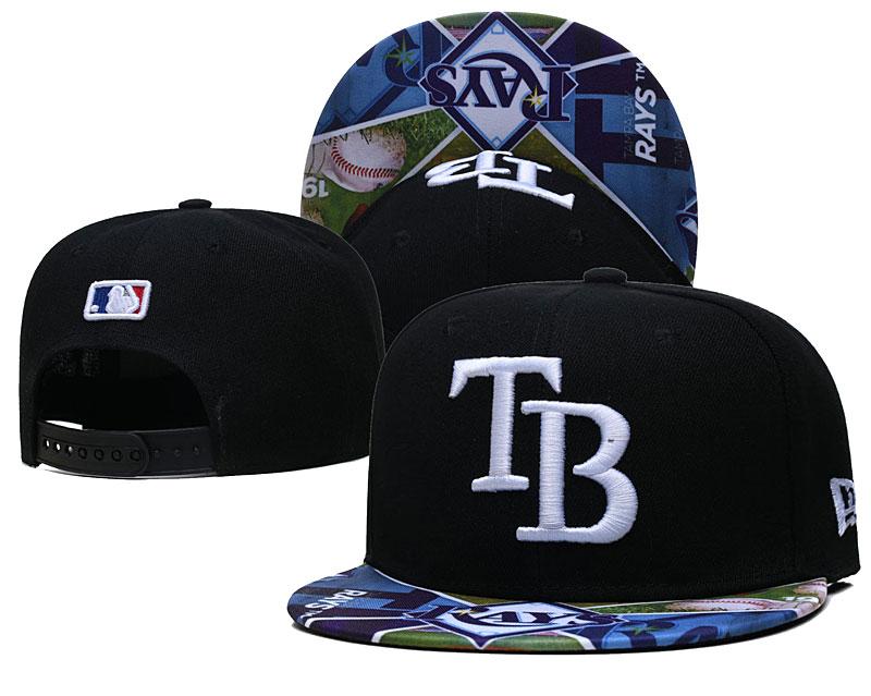 Rays Team Logos Black Adjustable Hat LH