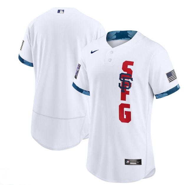 San Francisco Giants Blank White Nike 2021 MLB All-Star Flexbase Jersey