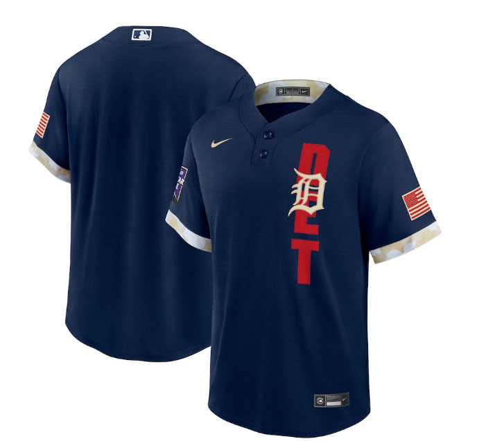 Tigers Blank Navy Nike 2021 MLB All-Star Cool Base Jersey