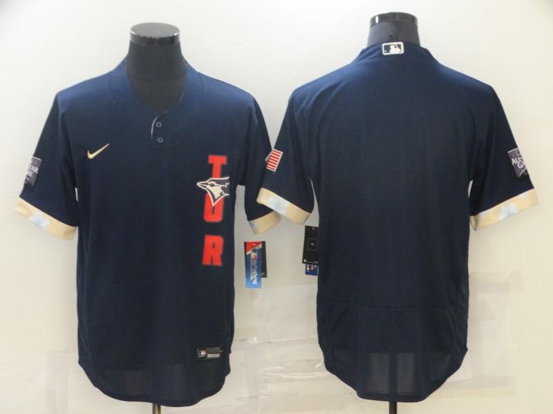 Blue Jays Blank Navy Nike 2021 MLB All-Star Flexbase Jersey