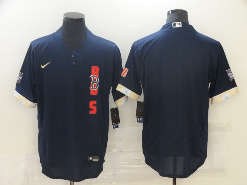 Red Sox Blank Navy Nike 2021 MLB All-Star Flexbase Jersey