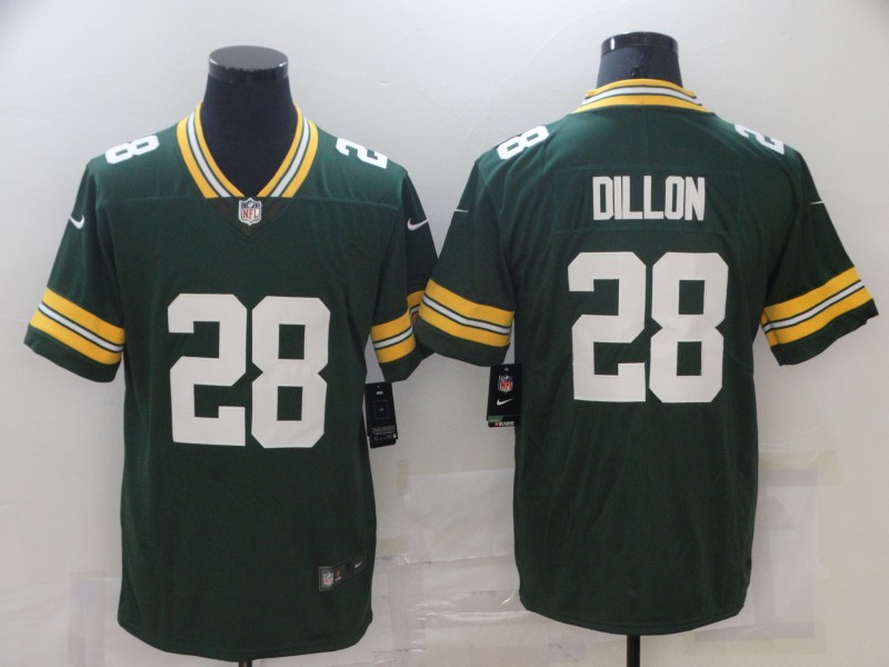 Nike Packers 28 A.J. Dillon Green Vapor Untouchable Limited Jersey