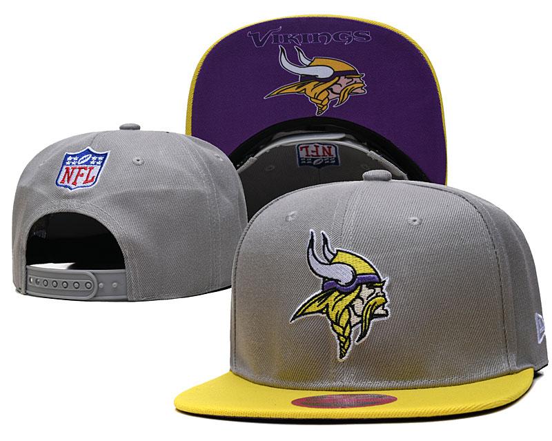Vikings Team Logo Gray Adjustable Hat TX