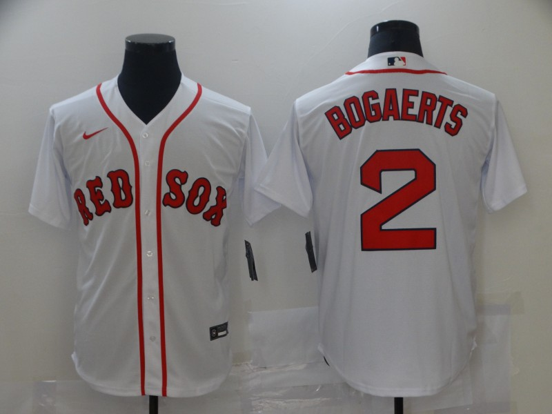 Red Sox 2 Xander Bogaerts White Nike Cool Base Jersey