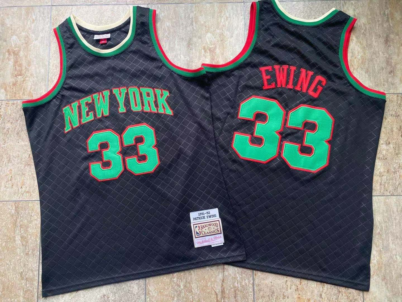 Knicks 33 Patrick Ewing Black 1991-92 Hardwood Classics Jersey