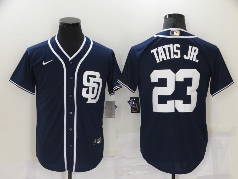 Padres 23 Fernando Tatis Jr. Navy Nike Cool Base Jersey
