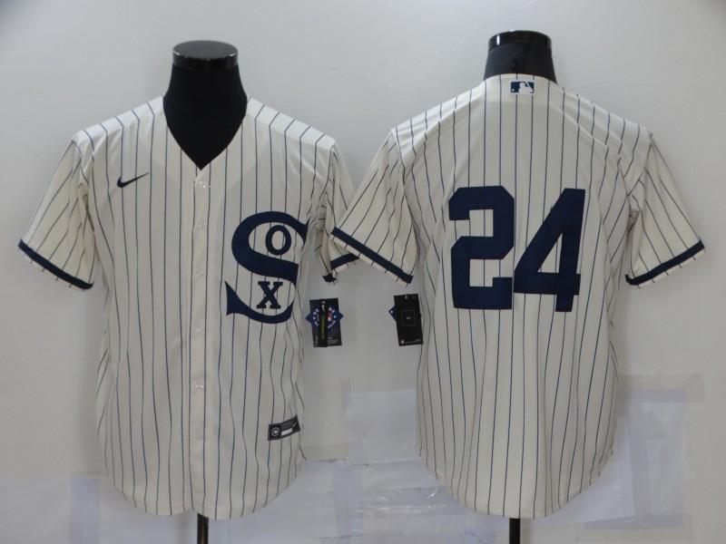 White Sox 24 Yasmani Grandal Cream Nike 2021 Field Of Dreams Cool Base Jersey