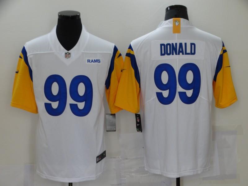 Nike Rams 99 Aaron Donald White Vapor Untouchable Limited Jersey