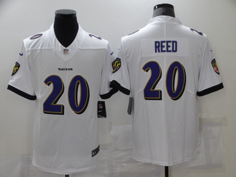 Nike Ravens 20 Ed Reed White Vapor Untouchable Limited Jersey