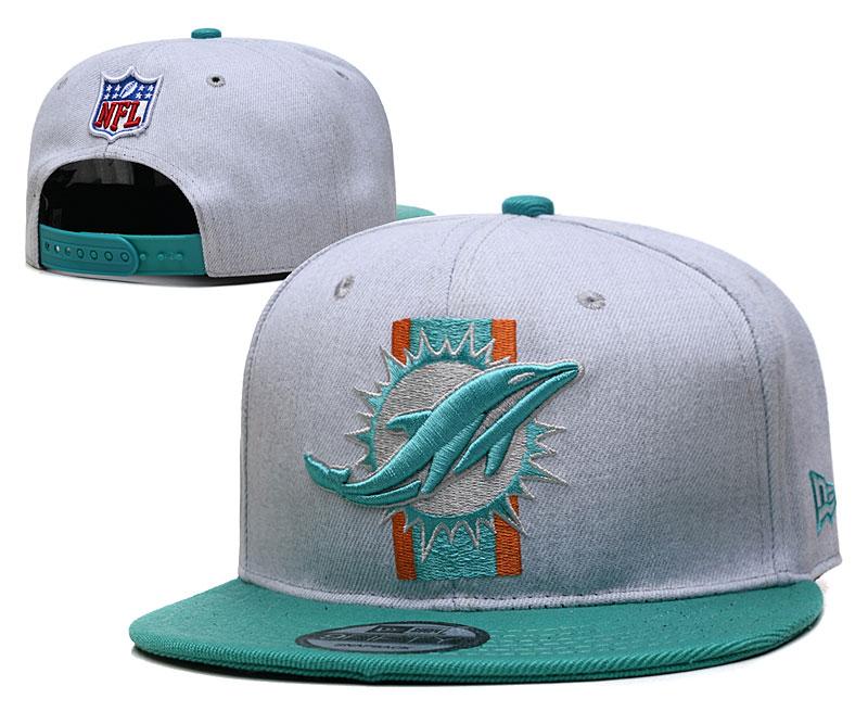Dolphins Team Logo Gray Adjustable Hat YD