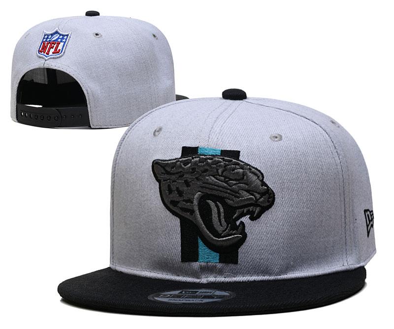 Jaguars Team Logo Gray Black Adjustable Hat YD