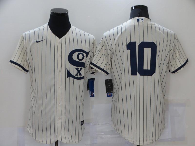 White Sox 10 Yoan Moncada Cream Nike 2021 Field Of Dreams Flexbase Jersey