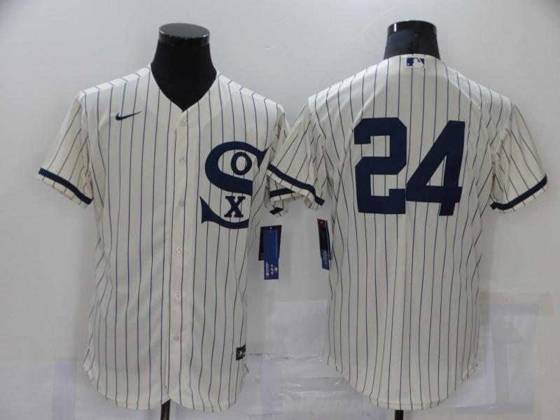 White Sox 24 Yasmani Grandal Cream Nike 2021 Field Of Dreams Player Flexbase Jersey
