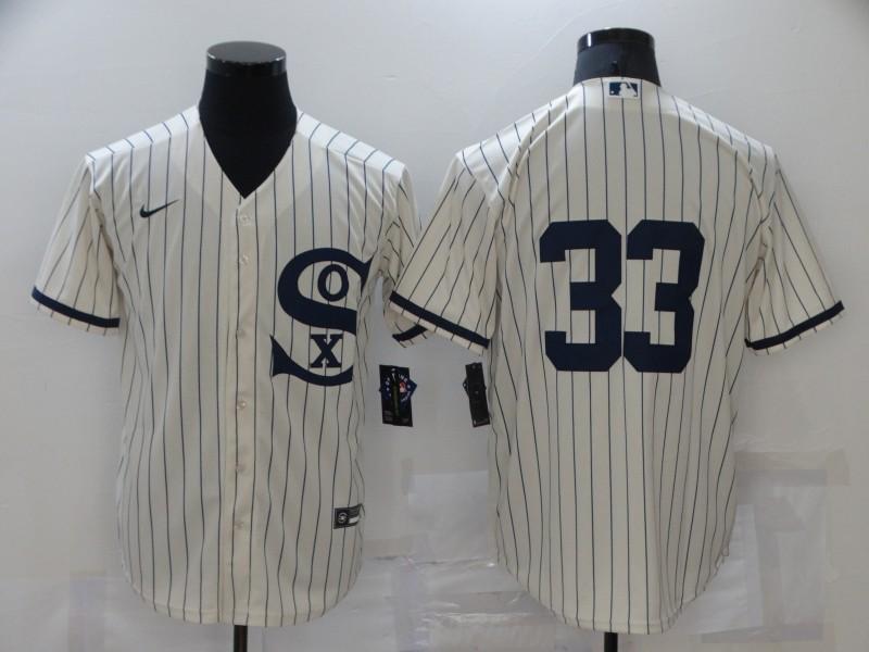 White Sox 33 Lance Lynn Cream Nike 2021 Field Of Dreams Cool Base Jersey