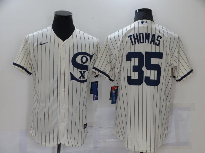 White Sox 35 Frank Thomas Cream Nike 2021 Field Of Dreams Flexbase Jersey