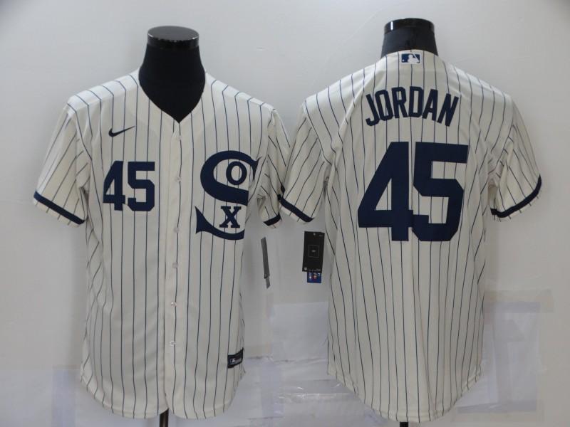 White Sox 45 Jordan Cream Nike 2021 Field Of Dreams Flexbase Jersey