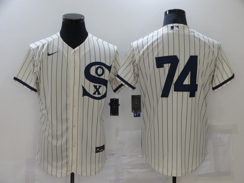 White Sox 74 Eloy Jimenez Cream Nike 2021 Field Of Dreams Flexbase Jersey