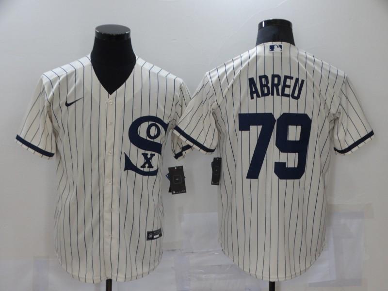 White Sox 79 Jose Abreu Cream Nike 2021 Field Of Dreams Cool Base Jersey