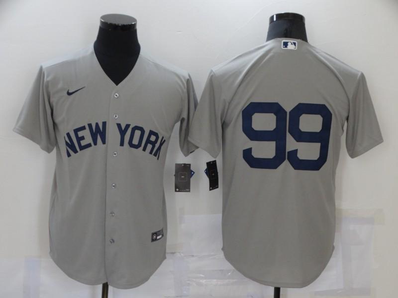 Yankees 99 Aaron Judge Gray Nike 2021 Field Of Dreams Cool Base Jersey