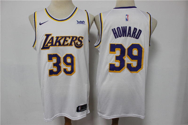 Lakers 39 Dwight Howard White Nike Swingman Jersey