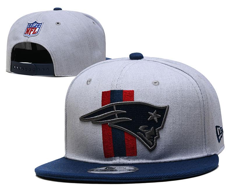 Patriots Team Logo Gray Navy Adjustable Hat YD