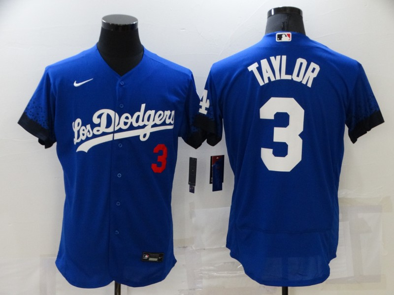 Dodgers 3 Chris Taylor Royal 2021 City Connect Flexbase Jersey