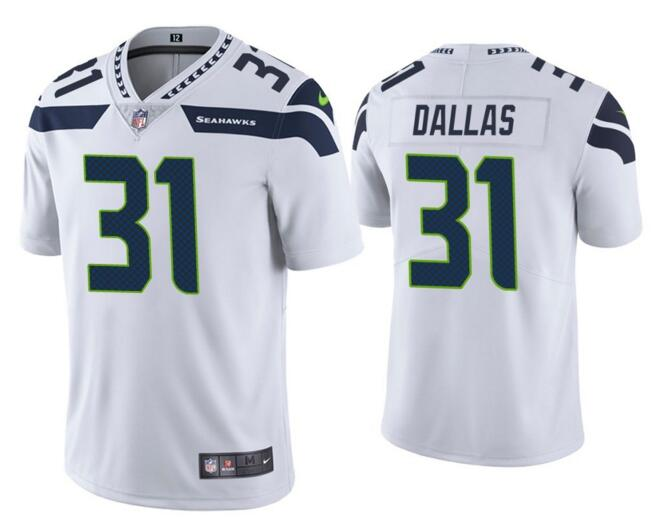 Nike Seahawks 31 Deejay Dallas White Vapor Untouchable Limited Jersey