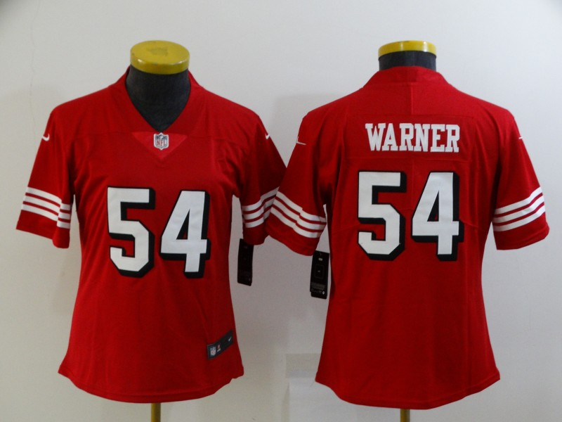 Chiefs 54 Fred Warner Red Women Color Rush Vapor Untouchable Limited Jersey