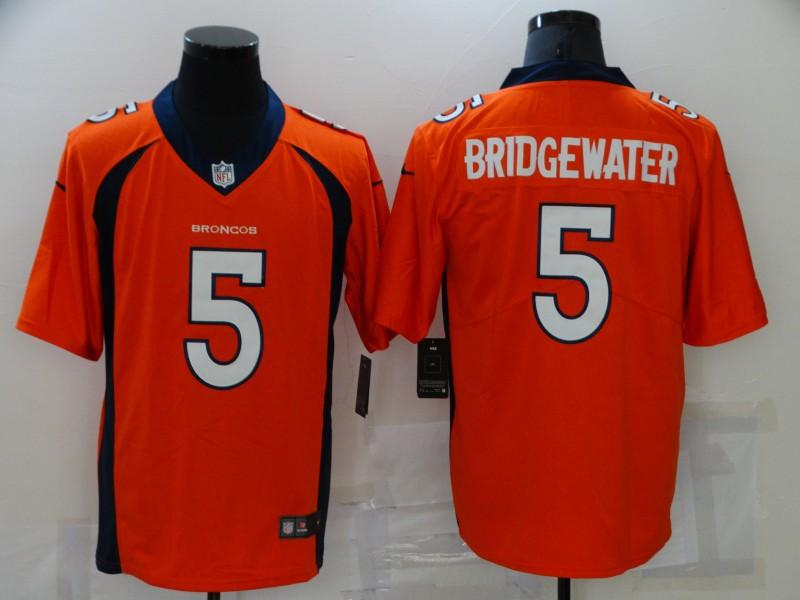 Nike Broncos 5 Teddy Bridgewater Orange Vapor Untouchable Limited Jersey
