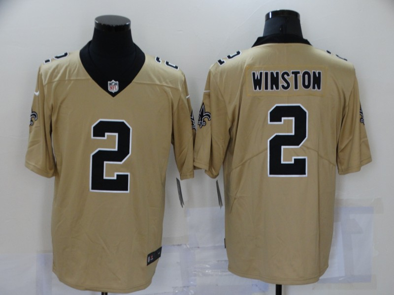 Nike Saints 2 Jameis Winston Cream Inverted Legend Limited Jersey