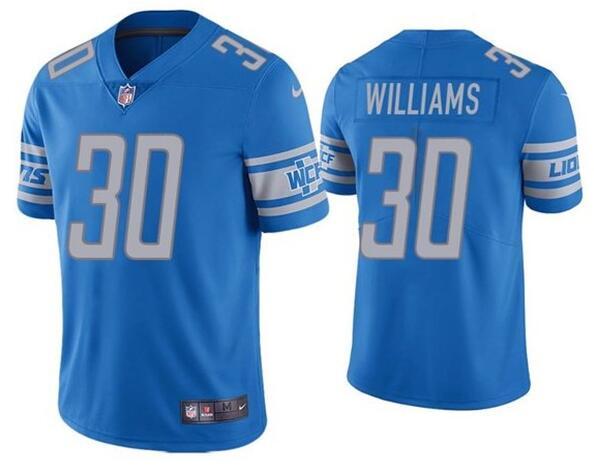 Nike Lions 30 Jamaal Williams Blue Vapor Untouchable Limited Jersey