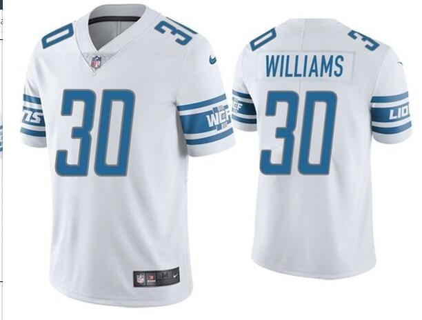 Nike Lions 30 Jamaal Williams White Vapor Untouchable Limited Jersey