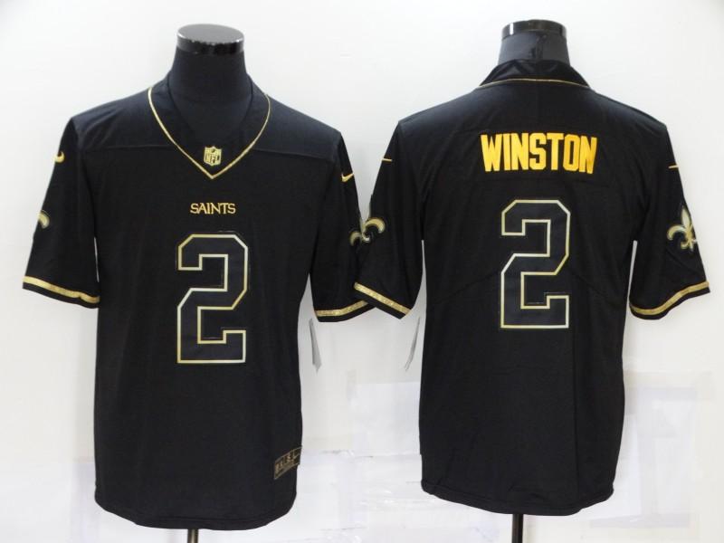 Nike Saints 2 Jameis Winston Black Gold Vapor Untouchable Limited Jersey