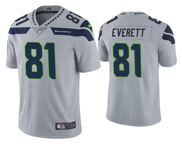 Nike Seahawks 81 Gerald Everett Gray Vapor Untouchable Limited Jersey