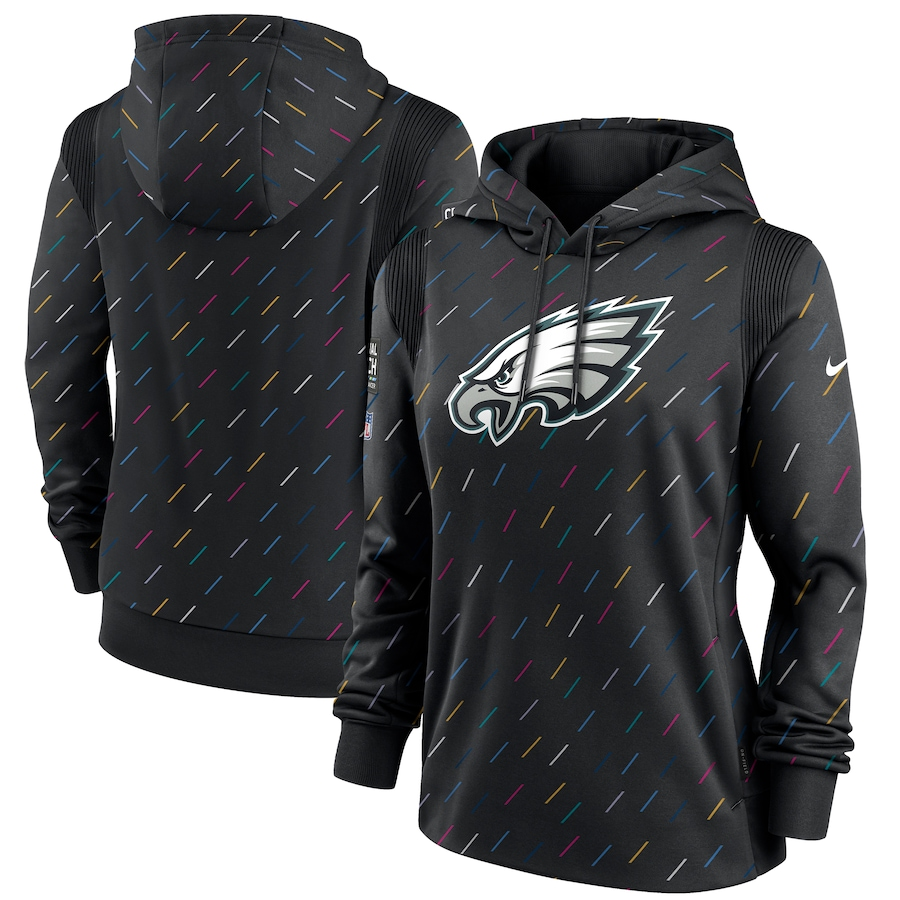 Women's Philadelphia Eagles Nike Anthracite 2021 NFL Crucial Catch Therma Pullover Hoodie