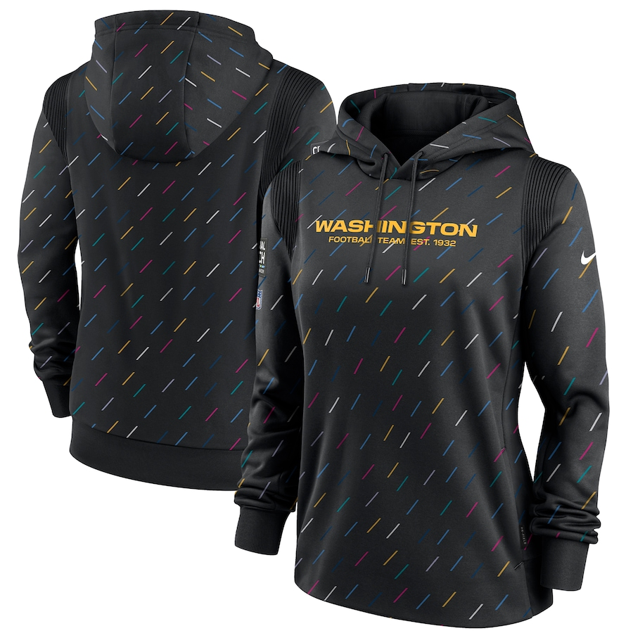 Women's Washington Football Team Nike Anthracite 2021 NFL Crucial Catch Therma Pullover Hoodie