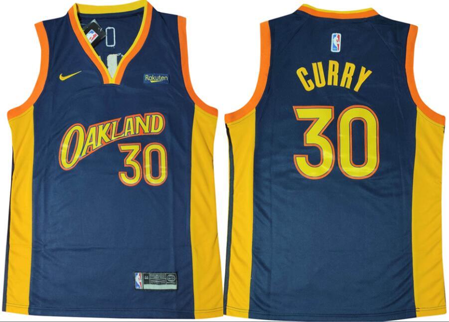 Warriors 30 Stephen Curry Navy Nike Swingman Jersey