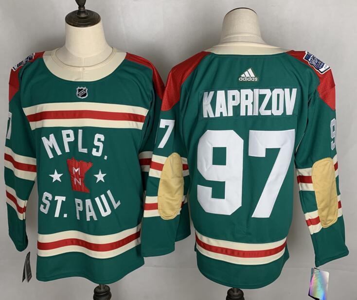 Wild 97 Kirill Kaprizov Green 2022 Winter Classic Adidas Jersey