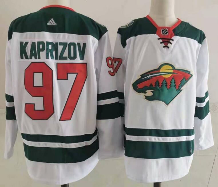 Wild 97 Kirill Kaprizov White Adidas Jersey