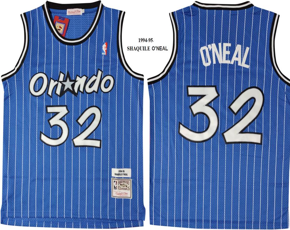 Magic 32 Shaquille O'Neal Blue 1994-95 Hardwood Classics Mesh Jersey