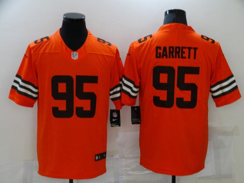 Nike Browns 95 Myles Garrett Orange Inverted Legend Limited Jersey
